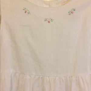 Strasburg White Size 8 Flower Girl Dress